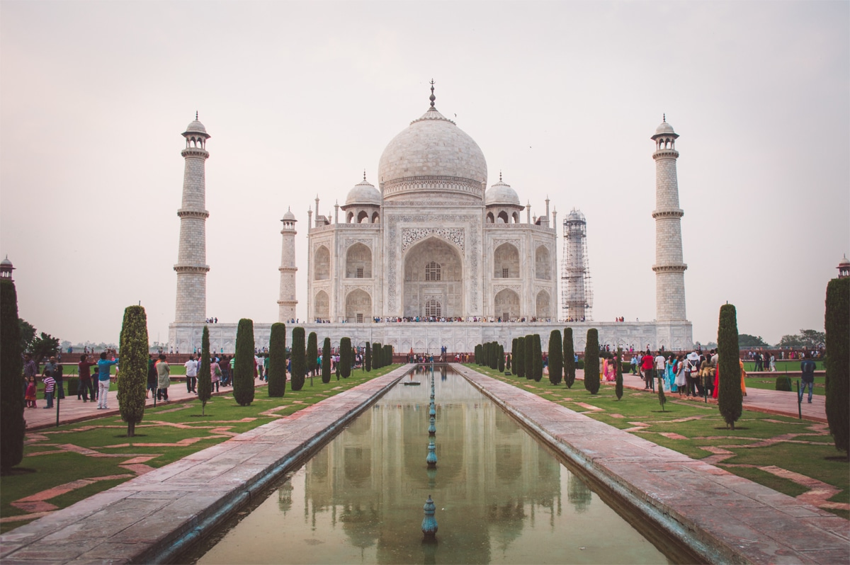 Taj Mahal, one of the Seven Wonders of the World, is just a three hours journey from New Delhi, the capital of India. It has been one of the most attractive tourist spots in India for foreigners for years