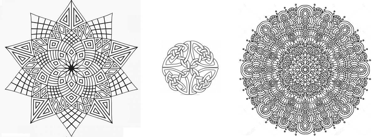 Kaleidescopes Coloring Crafts