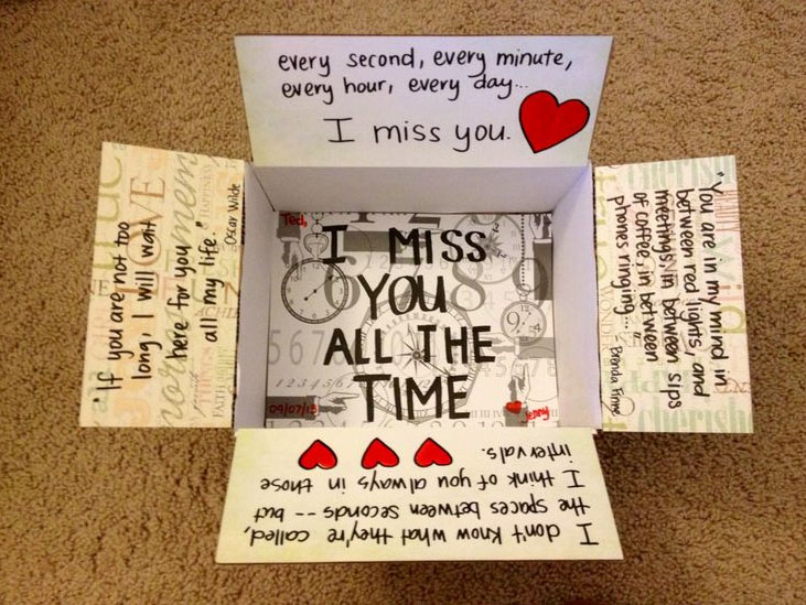 Care packages ideas viral rang for Going away gifts for boyfriend
