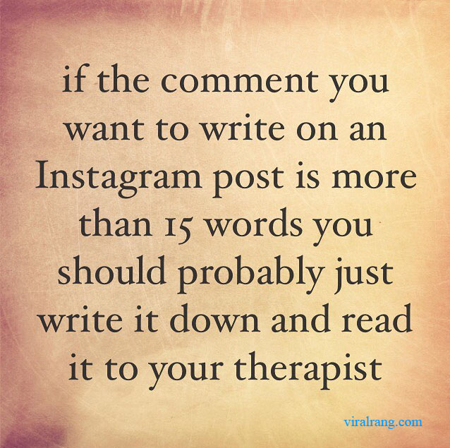 if the comment you want write on an instagram post is more than 15