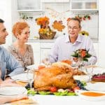Coloring pages of Thanksgiving family