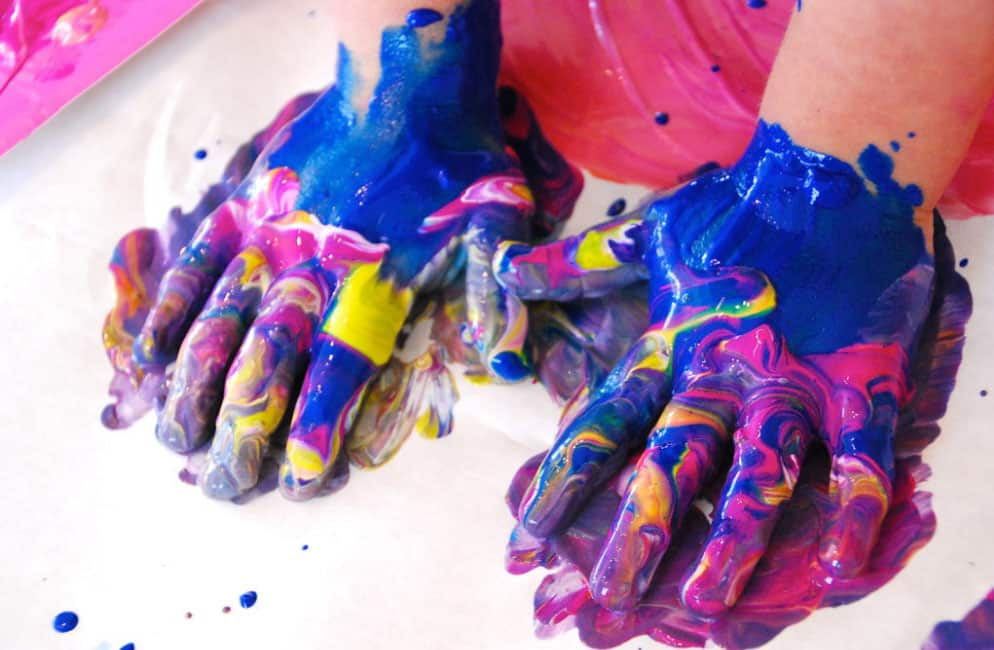 Finger Painting, Crafts Ideas And Activities For Kids In Rainy Day