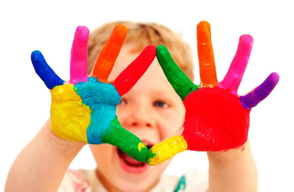 Finger Painting Kids, Crafts Ideas And Activities For Kids In Rainy Day