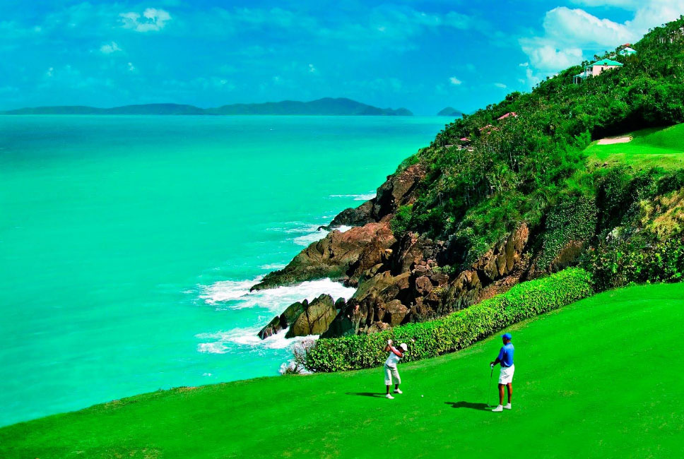 Golfing in St. Thomas