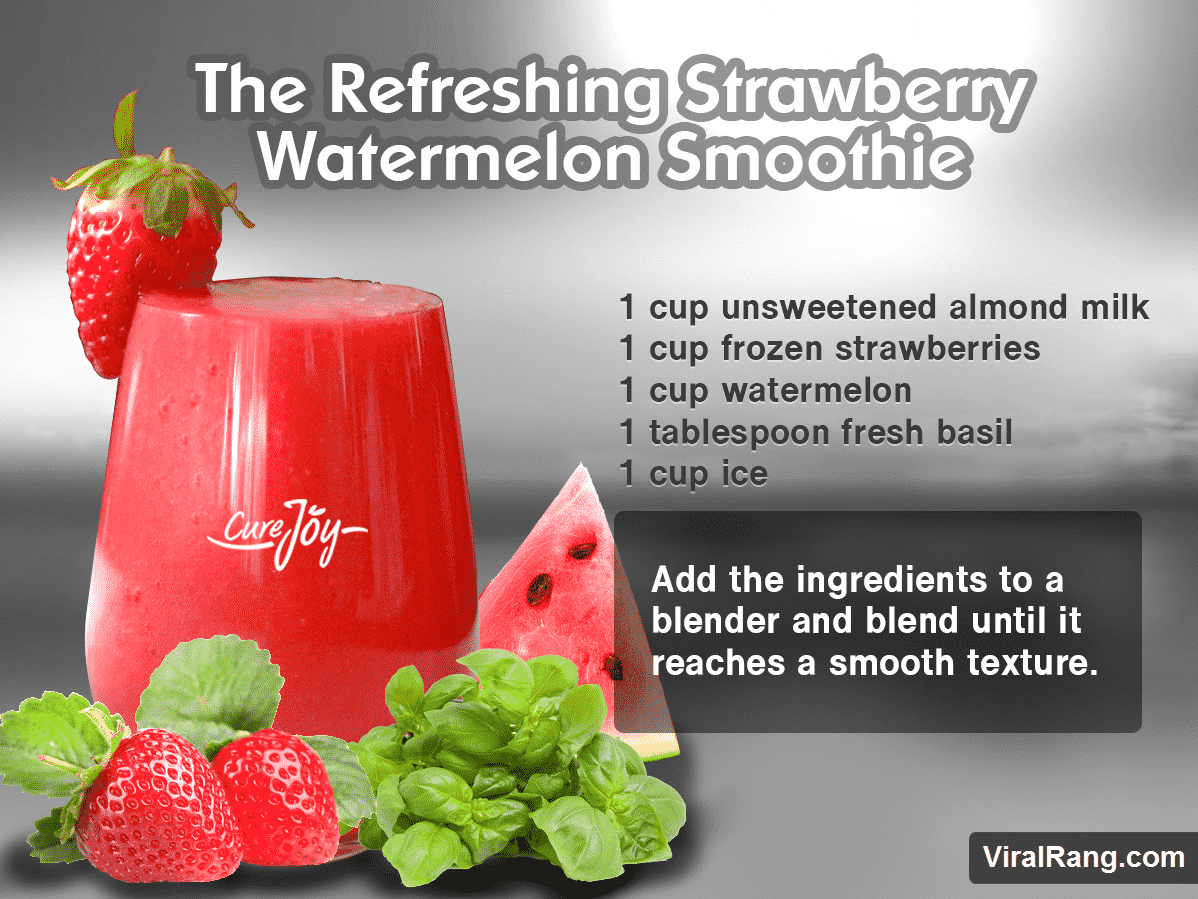 The Refreshing Strawberry Watermelon Smoothie Juice