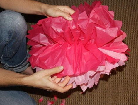 Making Tissue Paper Flowers Step 6