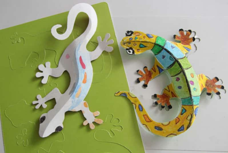 Paper Lizard Craft