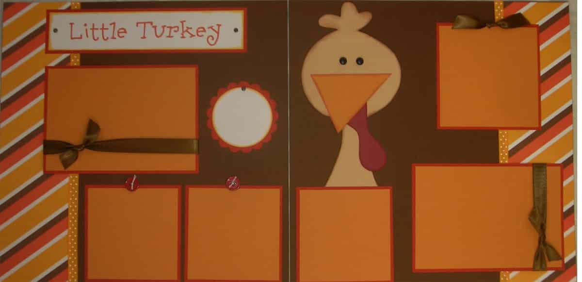 Thanksgiving scrapbook layouts