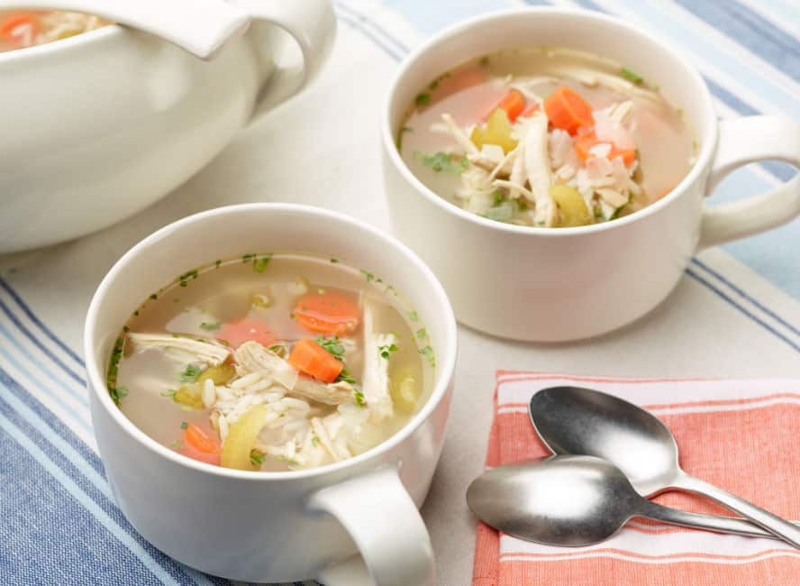 Chicken soup: prevents side effects of common cold