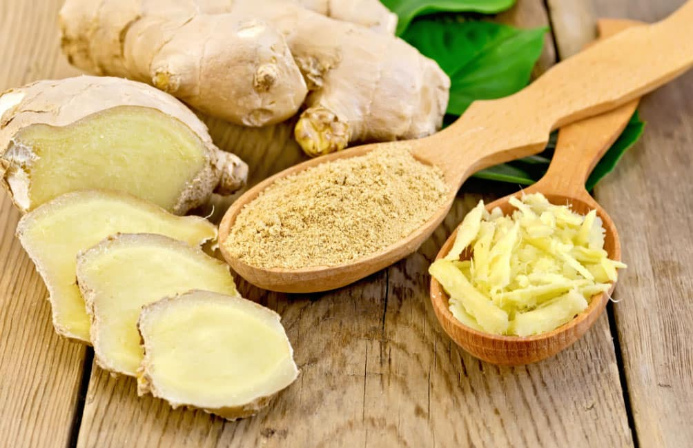 Ginger anti-nausea agent that also reduces muscle pains