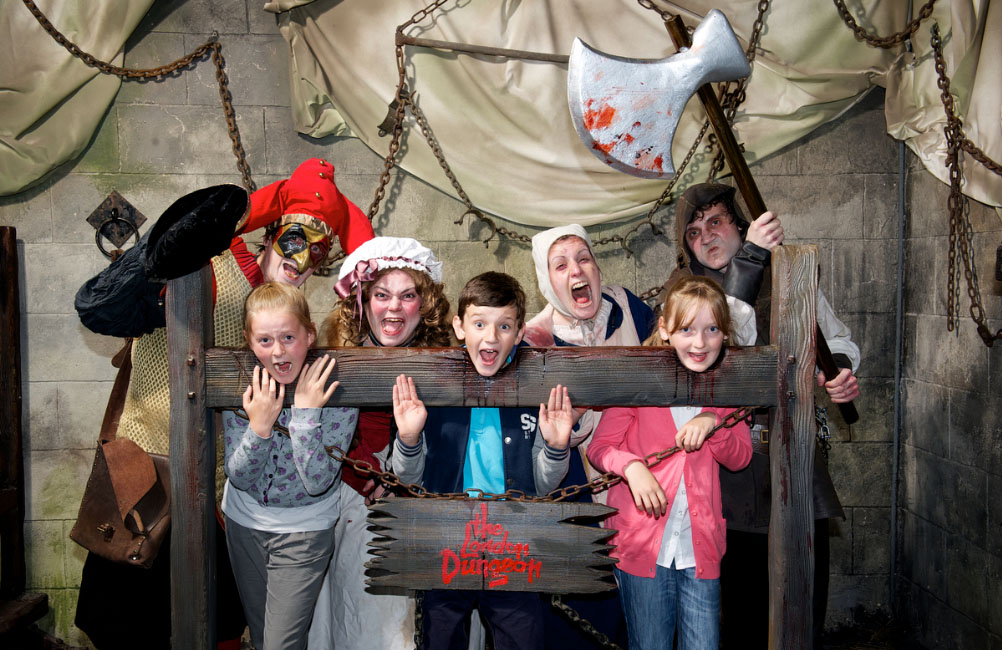 In the stocks at the London Dungeon