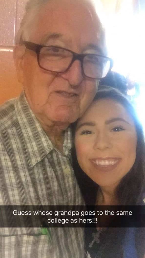 Melanie Salazar and granpa