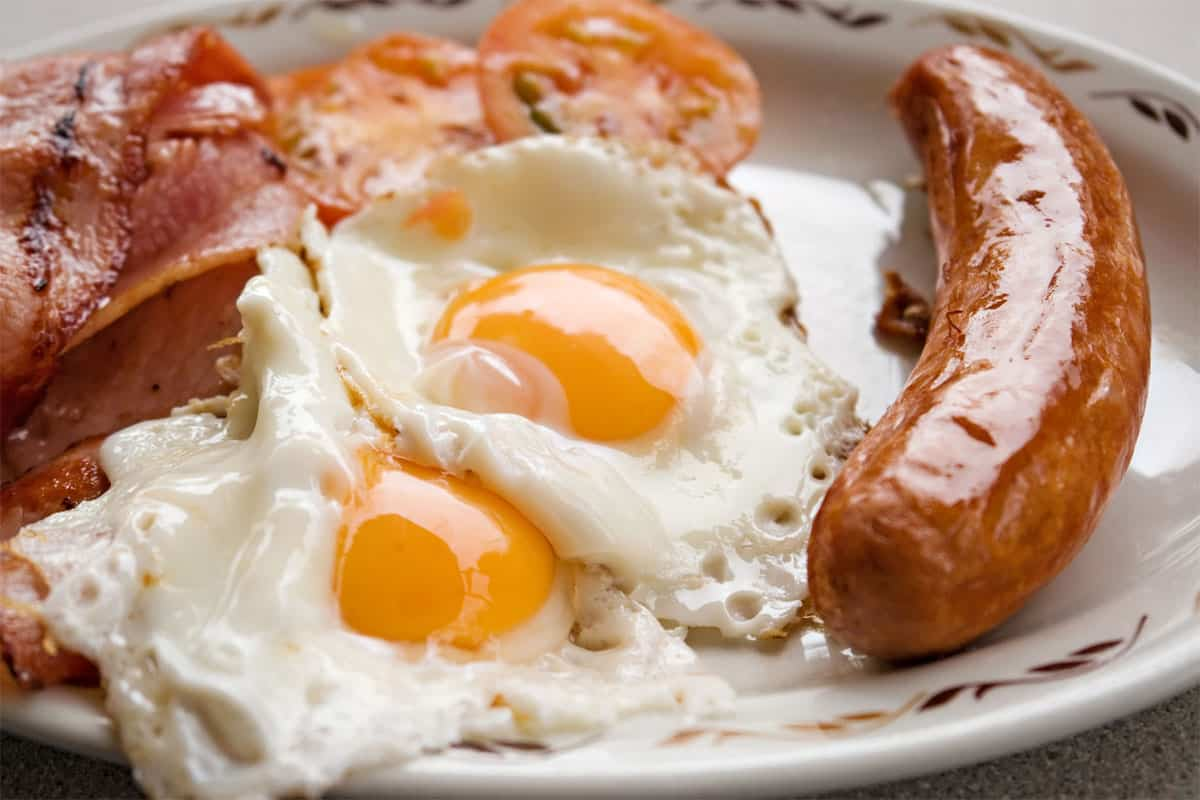 Bacon and Eggs, or Sausage and Eggs