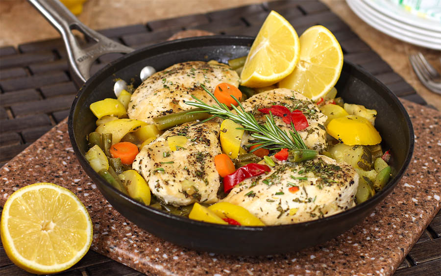 Rosemary Lemon Chicken with Vegetables
