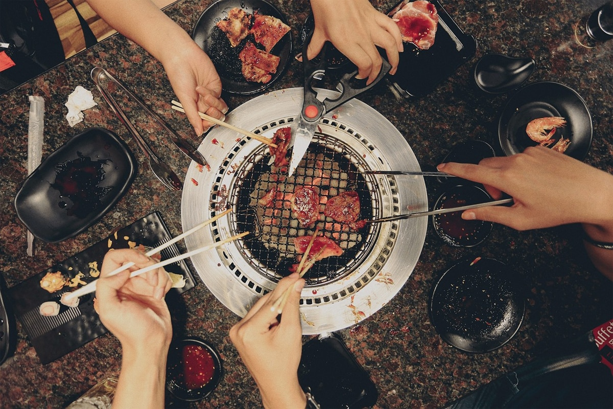 Cooking and Eating Together as A Family
