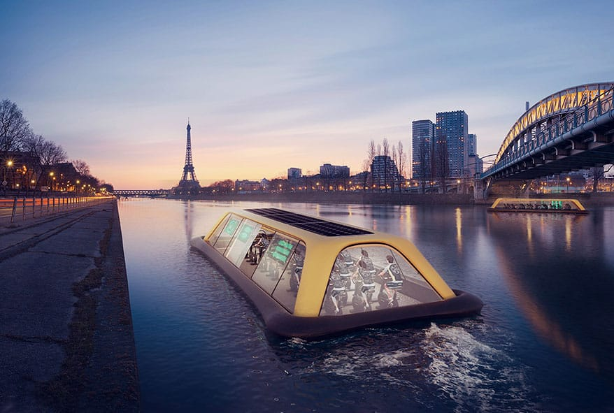 Floating Gym In Paris Uses Human Energy