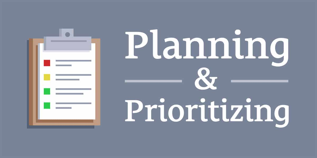 Planning and Prioritizing Goals
