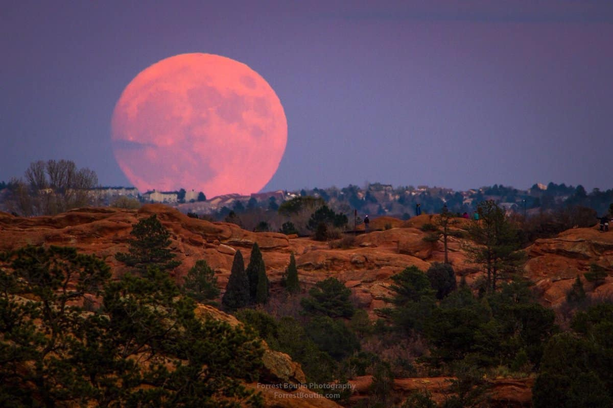 supermoon seen from Colorado Springs