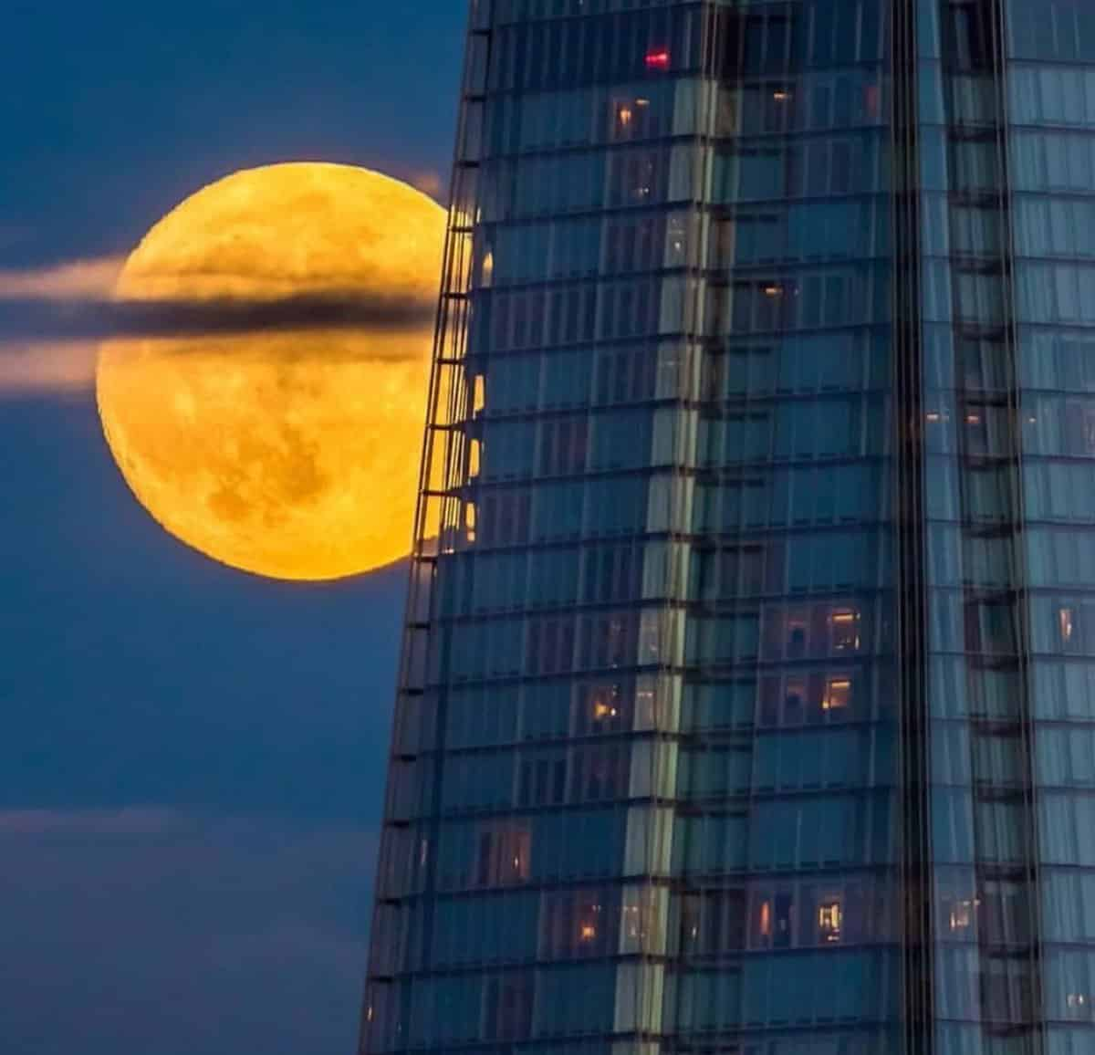 SuperMoon over The Shard