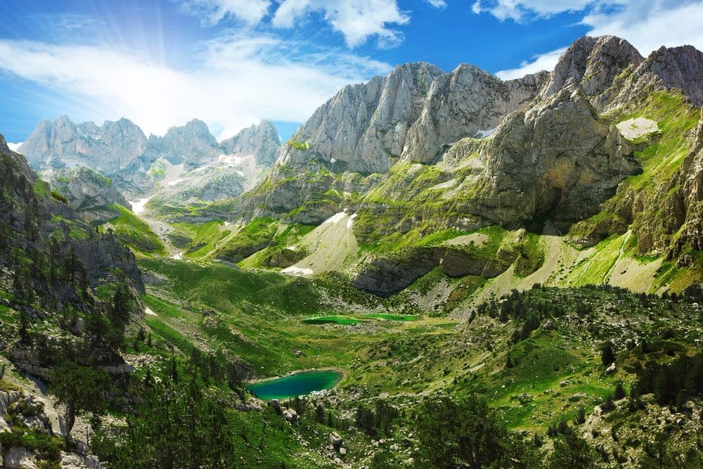 Albania is a mountainous country, mountain lakes in Albanian Alps