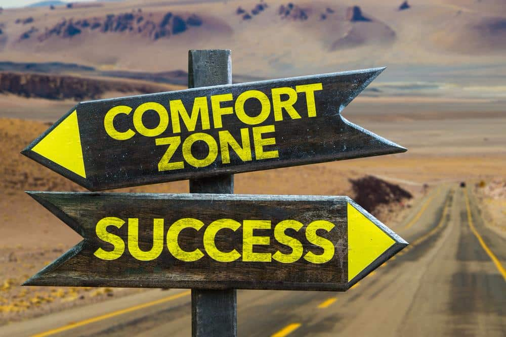 comfort zone vs seccess