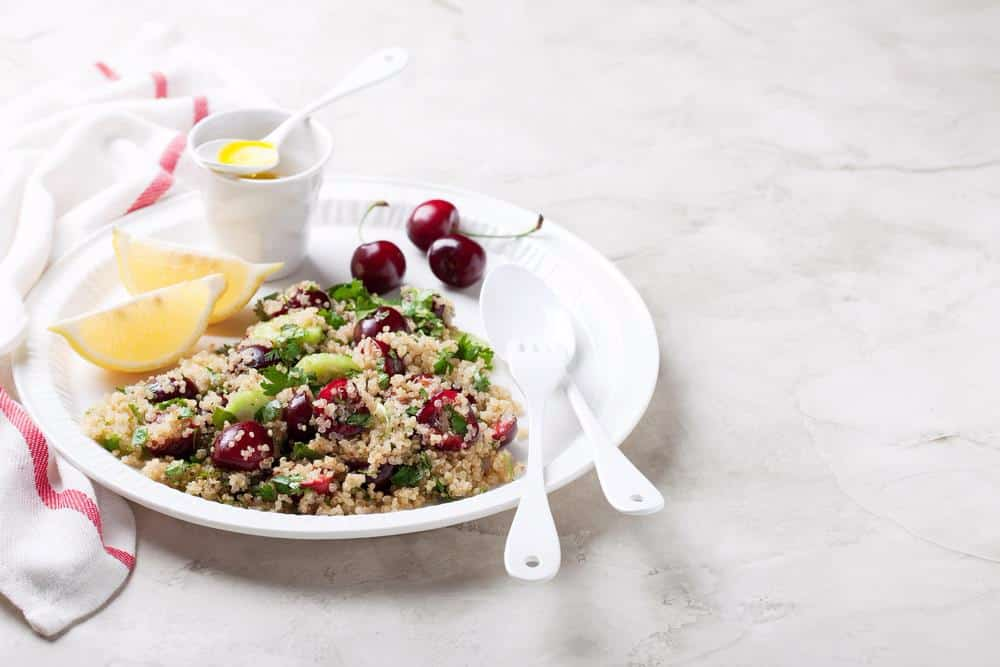 Kale, Quinoa and Cherry Salad