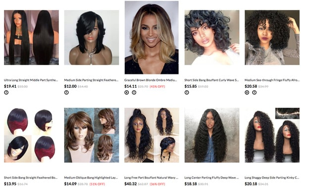 Dresslily cheap wigs