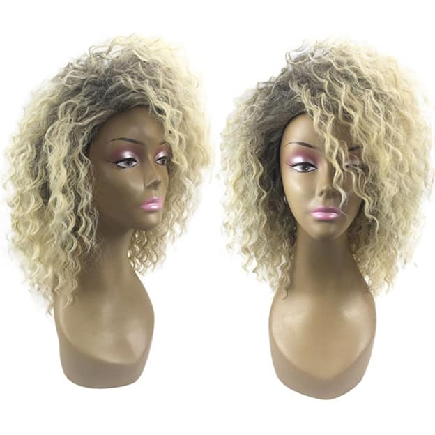 playful synthetic blond style wig