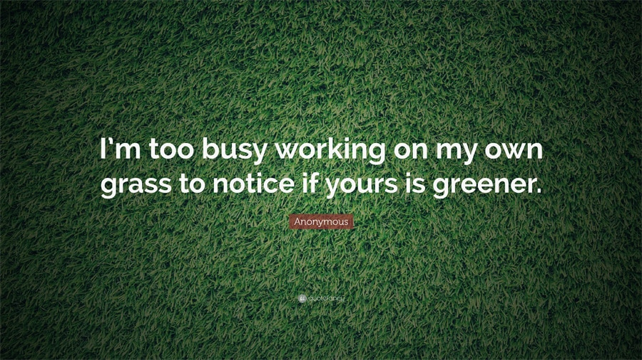 Im too busy working on my own grass, family quotes