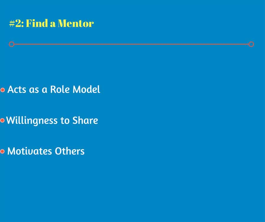 Find a Mentor Acts as a Role Model Willingness to Share Motivates Others