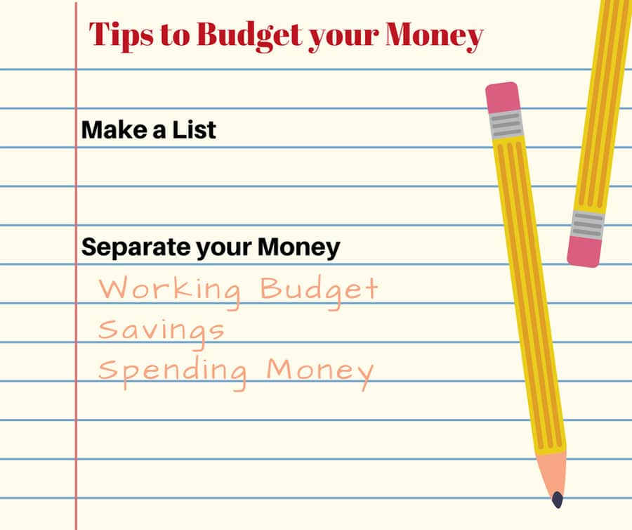 Tips to Budget your Money