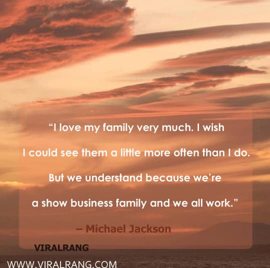 I love my family very much. I wish I could see them a little more often than I do. But we understand because we're a show business family and we all work. Inspirational Family Quotes
