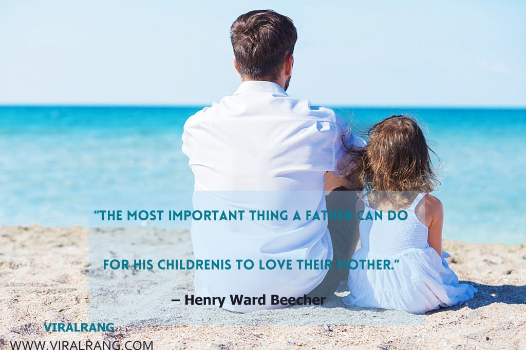 The most important thing a father can do for his children