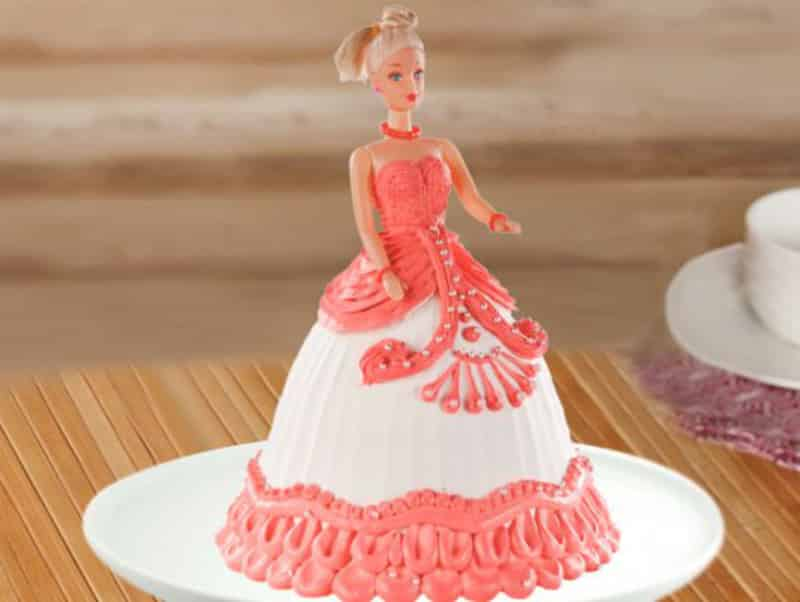 Hot barbie cake for girls