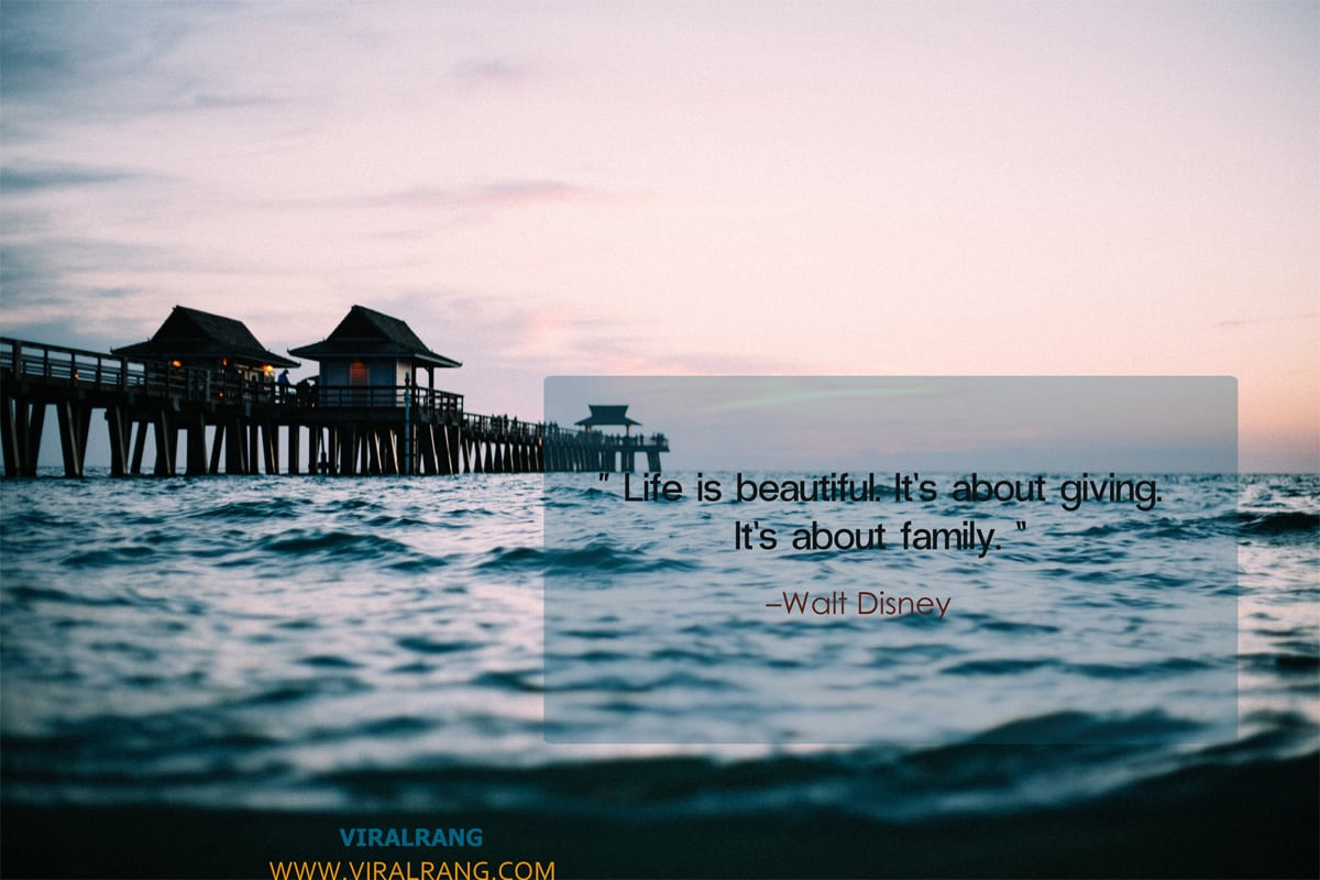 Life is beautiful - Family Quotes