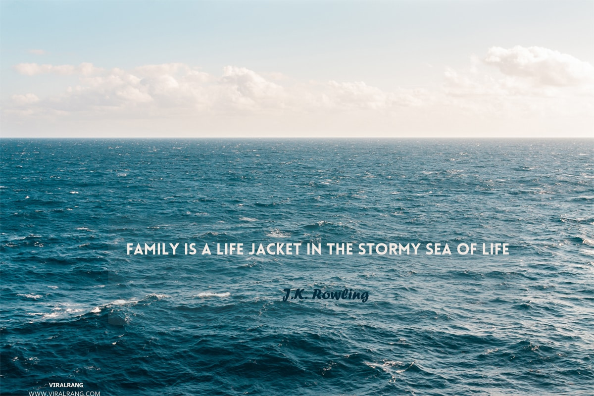 The family is a life jacket