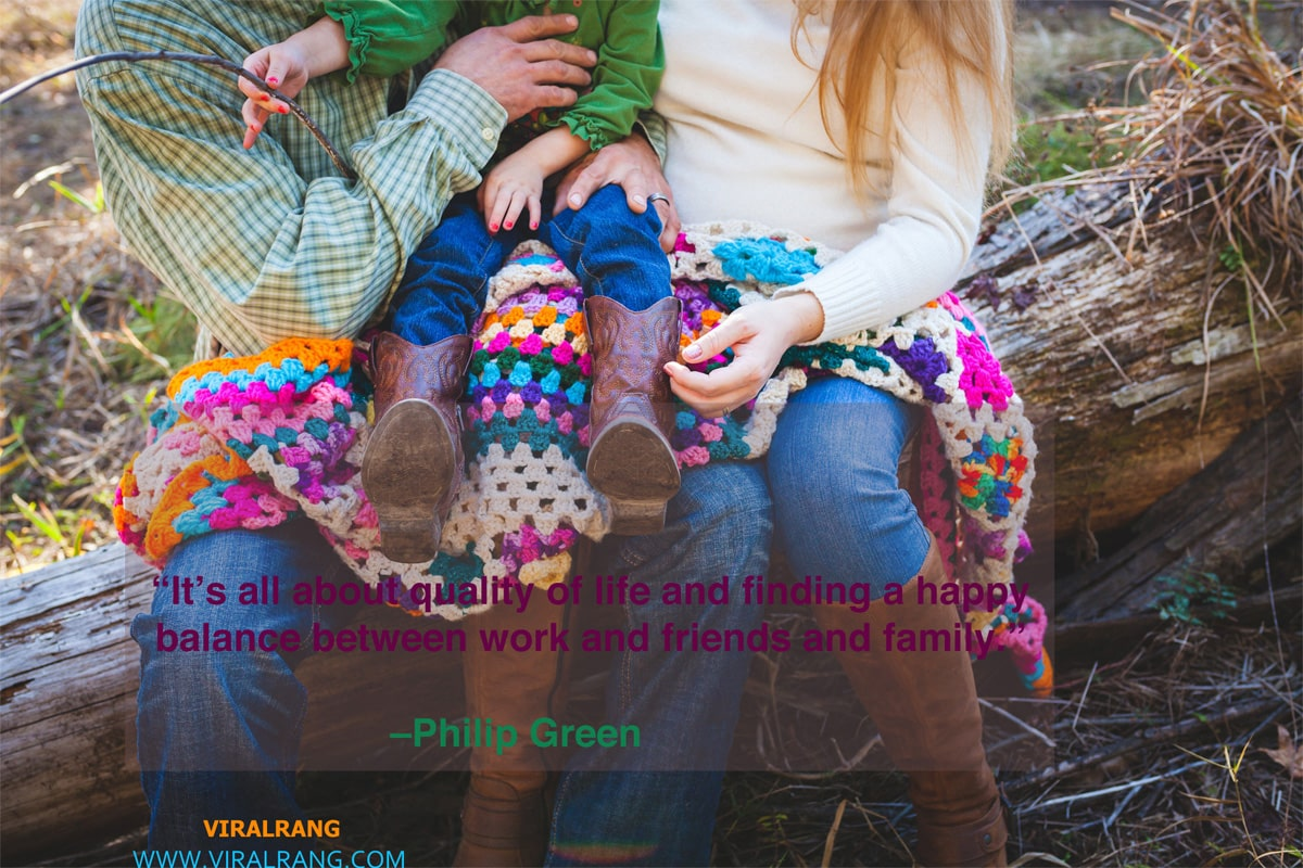 Quality of life between work and friends and family
