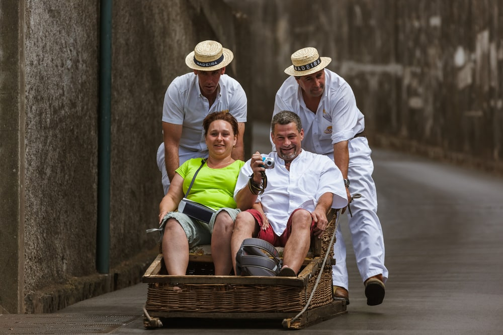 Ride the Funchal Toboggan in Madeira