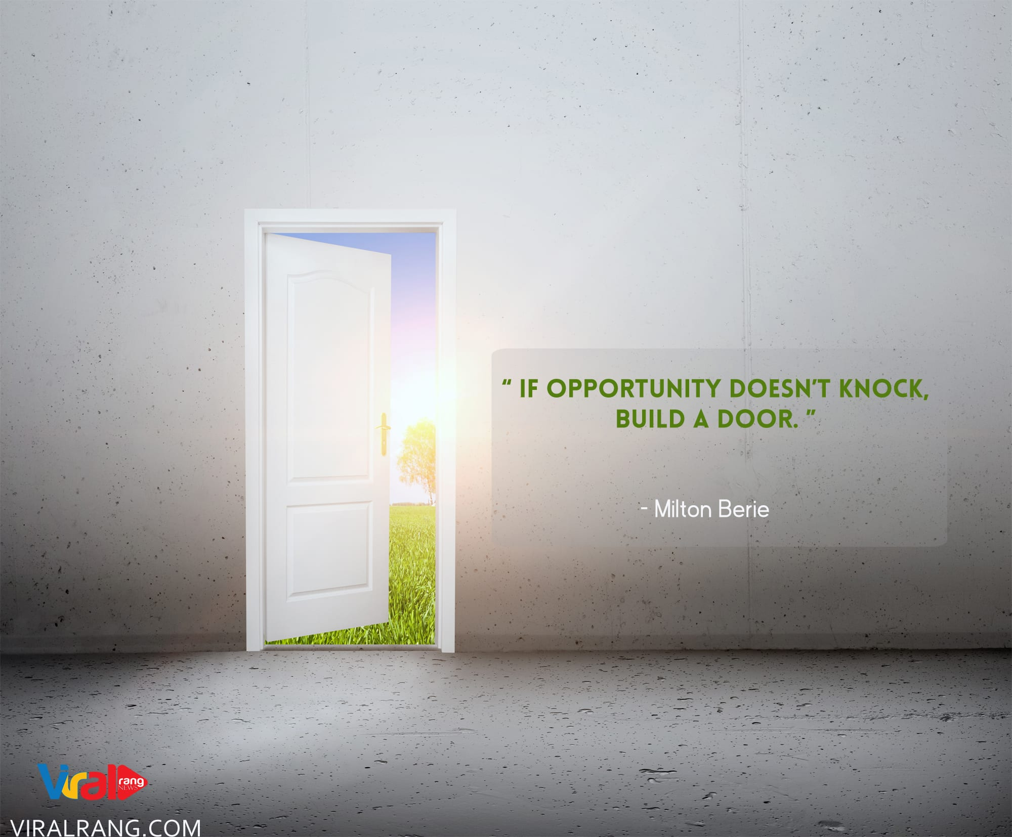 Build a Door, Positive Thinking