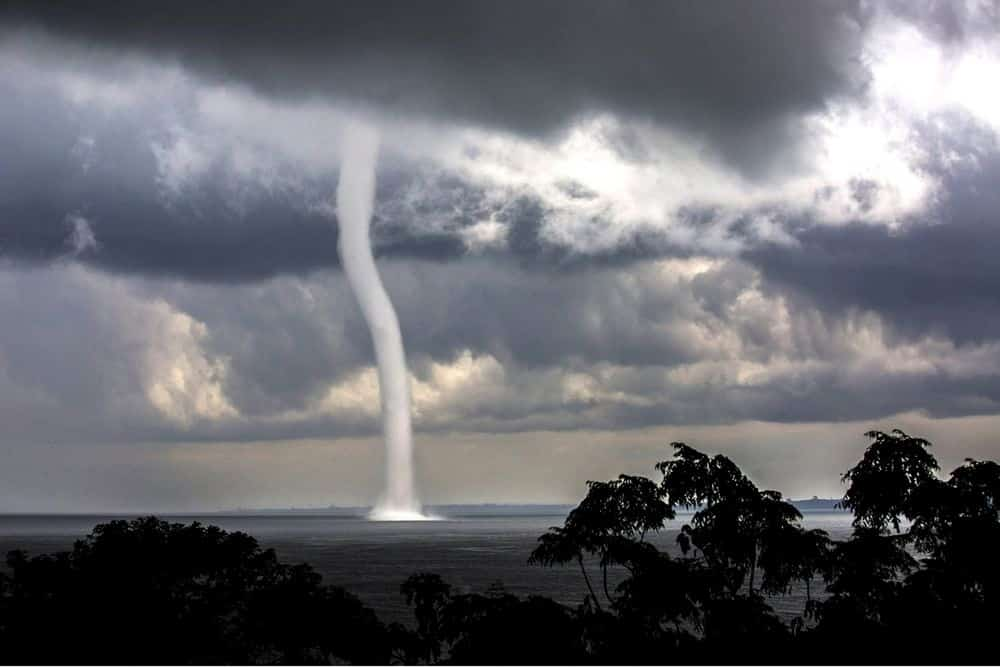 Waterspout on Lake Victoria