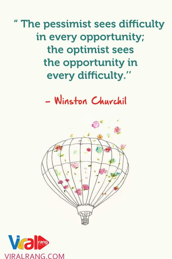 he optimist sees the opportunity