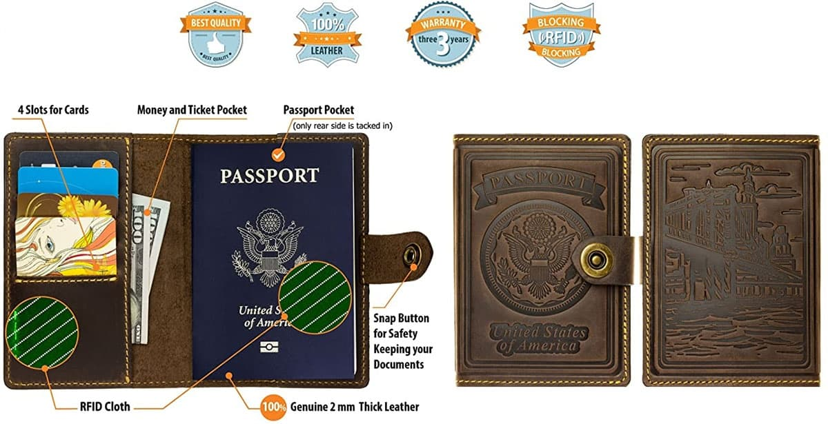 Stylish Passport Cover for Women and Men