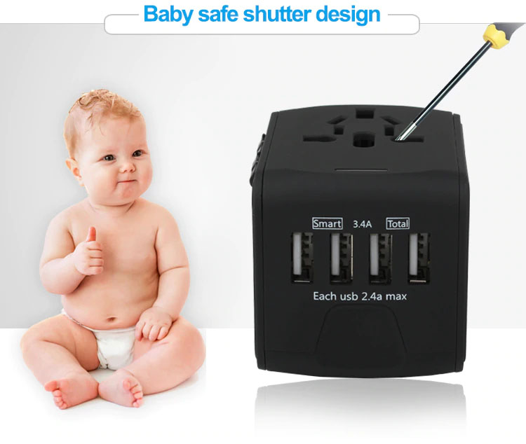 Travel Adapter Baby Safe