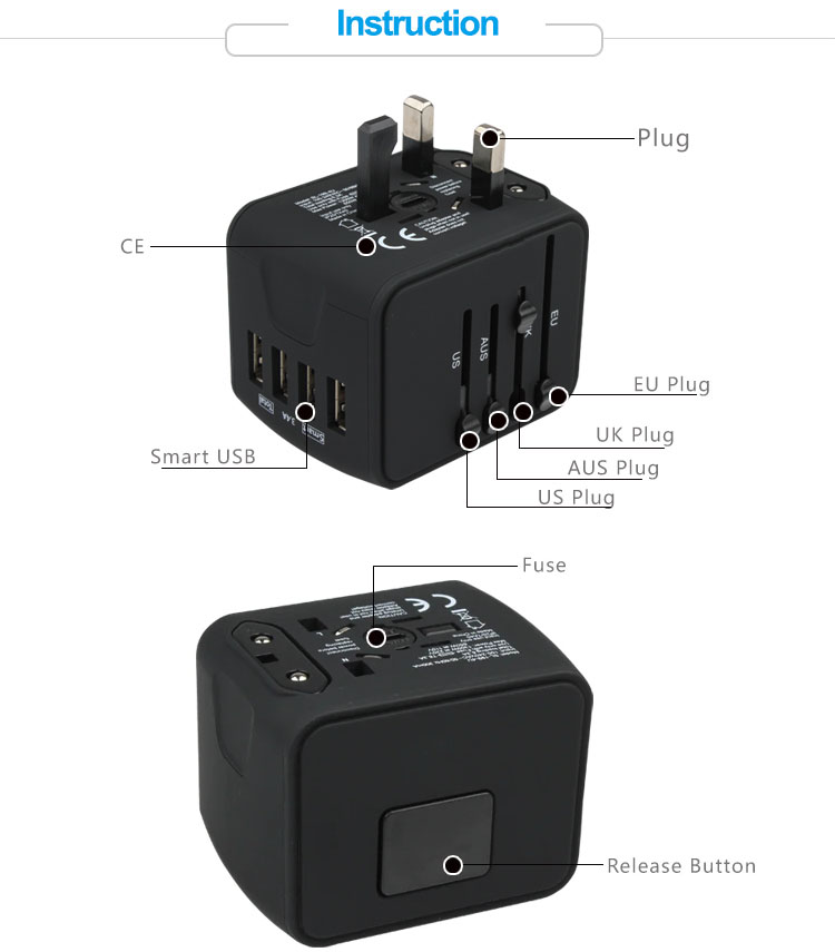 Travel Adapter Instruction