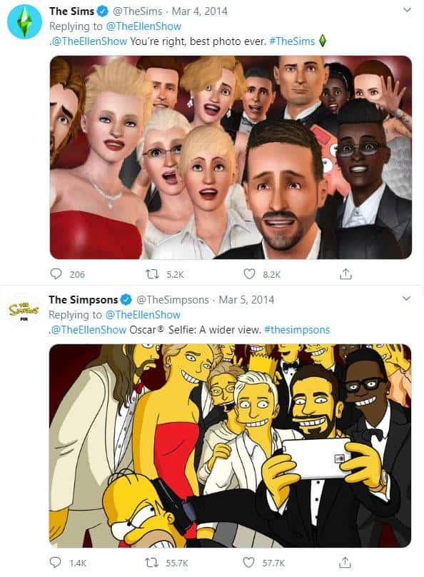 Ellen DeGeneres Tweet Simpsons