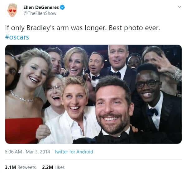 Ellen DeGeneres Tweet