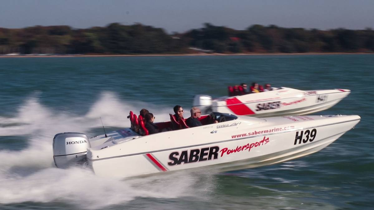 A powerboat race championship held in Southampton.