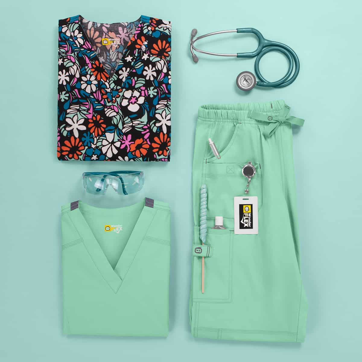 Fun-Patterned Scrubs for Nurses