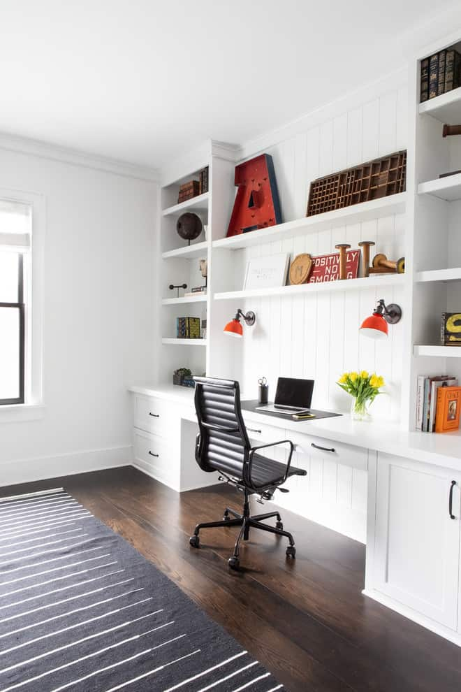 Home office vertical space