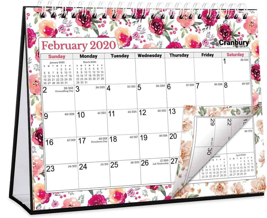 Mini Table Calendar, Affordable Cool Office Supplies